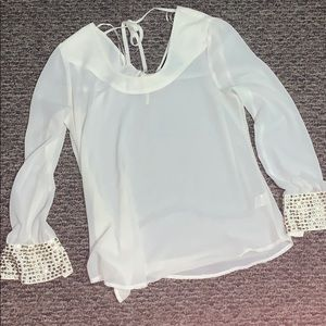 Romeo and Juliet Cream chiffon top